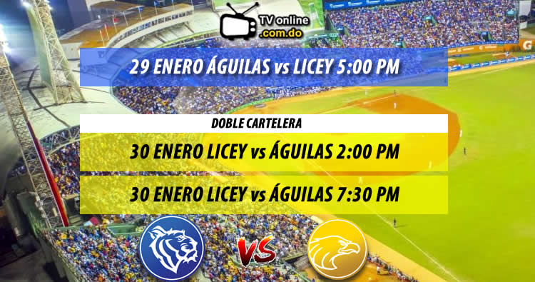 Calendario Serie Final Licey vs Águilas