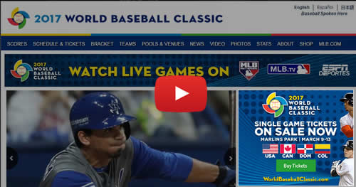 world baseball classic 2017 official site